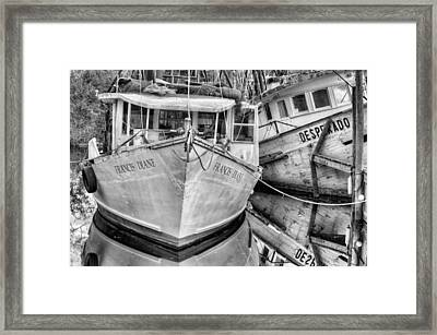 Lean On Me Black And White Framed Print by JC Findley