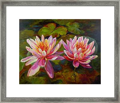 Framed Print featuring the painting Lean On Me by Chris Brandley