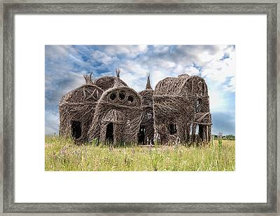 Lean On Me - Stick House Series 1/3 Framed Print