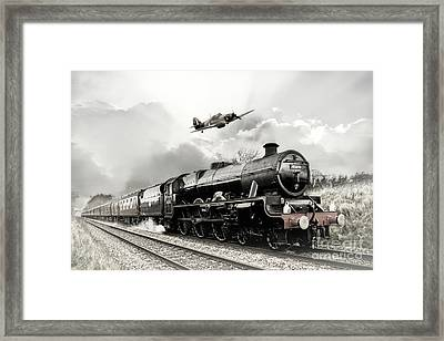 Leander And Hurricane Framed Print