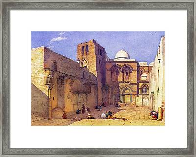Leander Russ Church Of Holy Sepulchre Framed Print