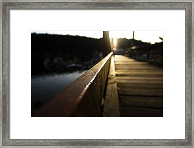 Leanin At The Cove Framed Print by  Kelly Hayner