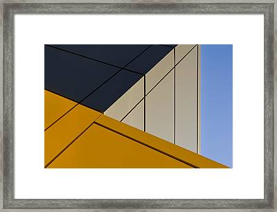 Leaning Against The Blue Sky Framed Print by Gerard Jonkman