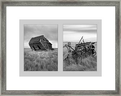 Leaning Diptych Framed Print by Leland D Howard