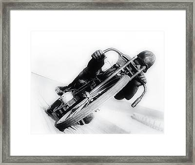 Leaning Hard Framed Print by Bill Cannon