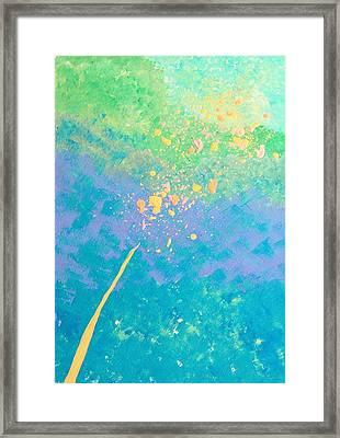 Leaning Framed Print by Helene Henderson