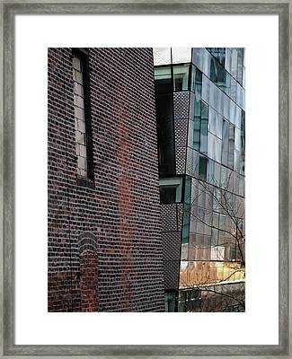 Leaning In At The High Line Framed Print