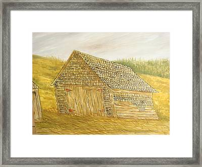 Leaning In Framed Print by Norman F Jackson