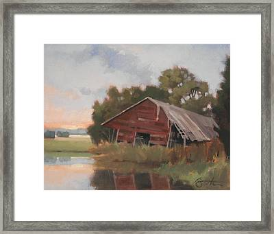 Leaning Framed Print by Todd Baxter
