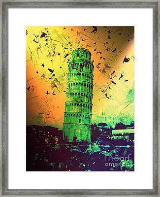 Leaning Tower Of Pisa 32 Framed Print