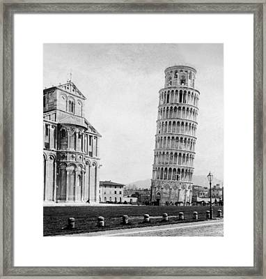 Leaning Tower Of Pisa Italy - C 1902  Framed Print by International  Images