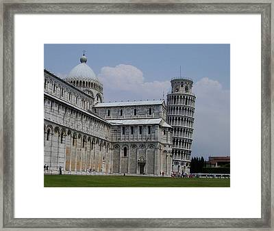 Leaning Tower Of Pisa Framed Print by Joseph R Luciano