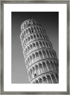 Leaning Tower Of Pisa Framed Print by Richard Goodrich