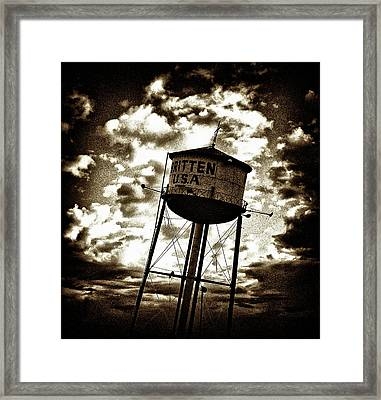 Leaning Tower Of Texas Framed Print by Dennis Sullivan
