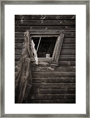 Leaning Window Framed Print