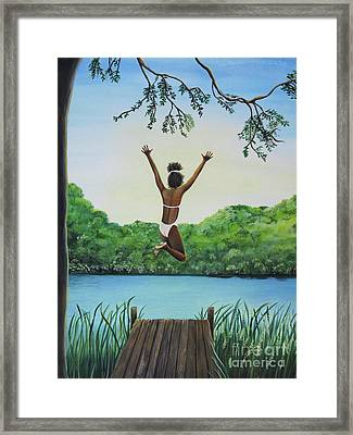 Leap Of Faith Framed Print by Kris Crollard