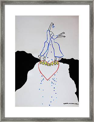 Leap Of Faith  Marriage Framed Print