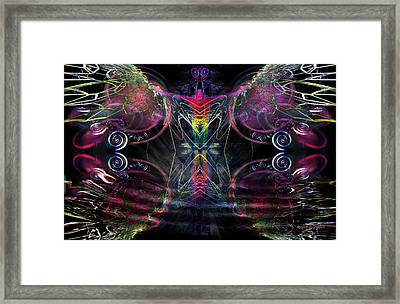 Framed Print featuring the digital art Leap Of Faith by Rhonda Strickland