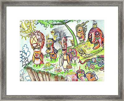 Leap Of Faith Framed Print by Robert Wolverton Jr
