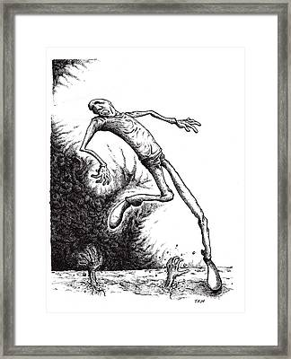 Leap Framed Print by Tobey Anderson
