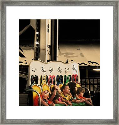 Leapfrog Framed Print by Colleen Kammerer