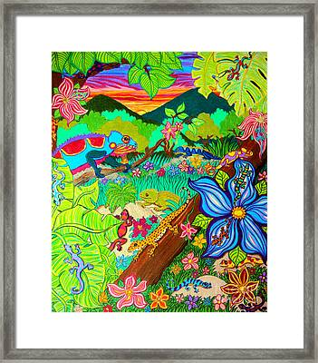 Leapin Lizards Framed Print by Nick Gustafson