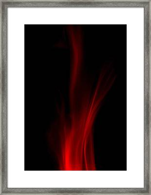 Leaping Flames Framed Print