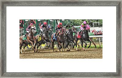 Leaping Forward Framed Print