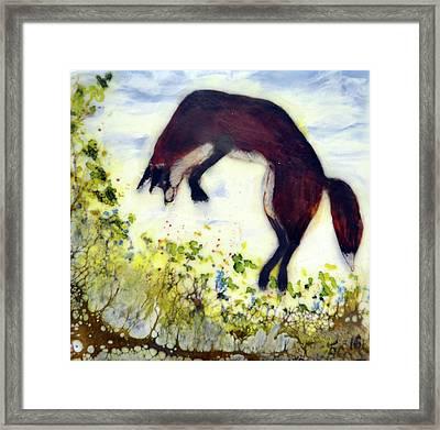 Leaping Fox 1 Framed Print