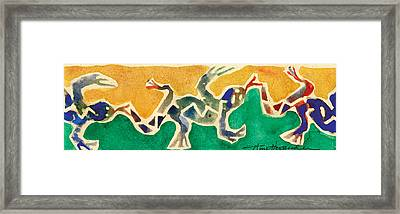 Leaping Lizards Framed Print by Annie Alexander