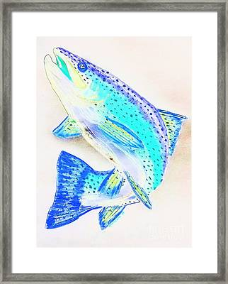 Leaping Trout Framed Print