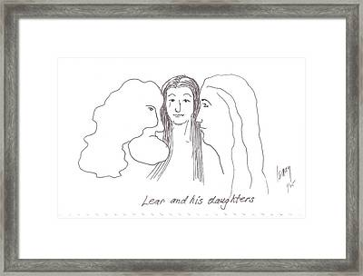 Lear And His Daughters Framed Print