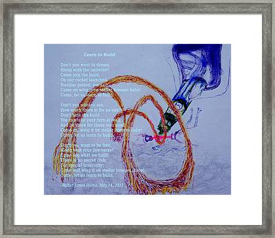 Learn To Build Framed Print by Walter Idema