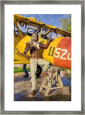 Learn To Fly Framed Print by Ricky Barnard