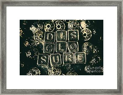 Learning Blocks Of Disclosure Framed Print