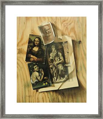 Learning From The Old Masters Framed Print