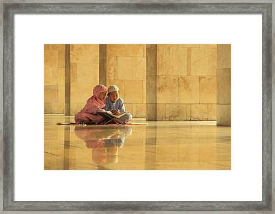 Learning Framed Print by Hedianto Hs
