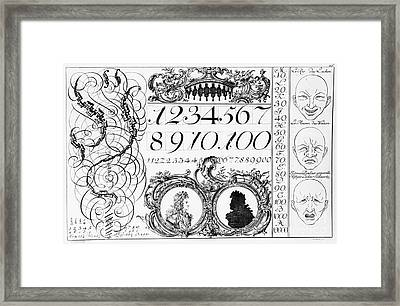 Learning Mathematics Framed Print by French School