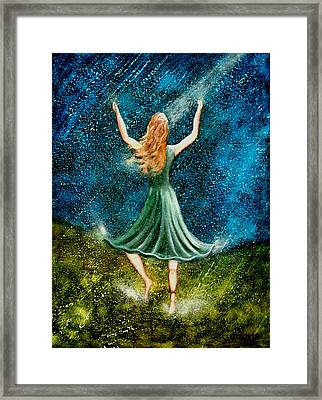 Learning To Dance In The Rain II Framed Print by Charlotte Smith