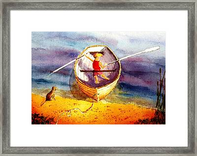 Learning To Row Framed Print by Buster Dight