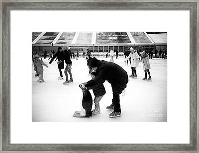 Learning To Skate Framed Print by John Rizzuto
