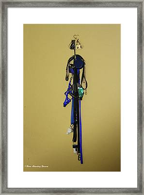 Leash Lady Just Hanging On The Wall Framed Print