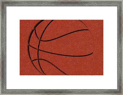 Leather Basketball Art Framed Print
