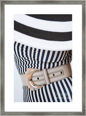 Framed Print featuring the photograph Leather Belt With A Buckle  by Andrey  Godyaykin