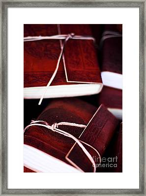 Leather Bound Books Framed Print by Jorgo Photography - Wall Art Gallery
