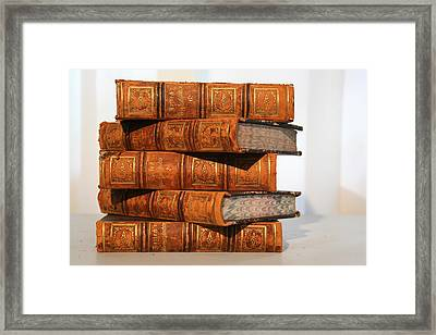 Leather Bound  Framed Print by Marcie  Adams