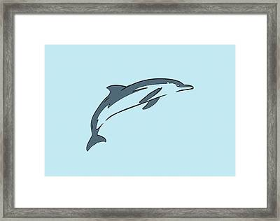 leather Dolphin Framed Print