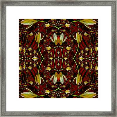 Leather In Floral Harmony And Peace Framed Print by Pepita Selles