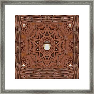 Leather In Peace And Love Framed Print
