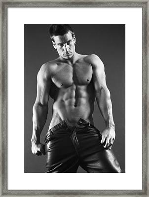 Leather Lothario Framed Print by Thomas Mitchell